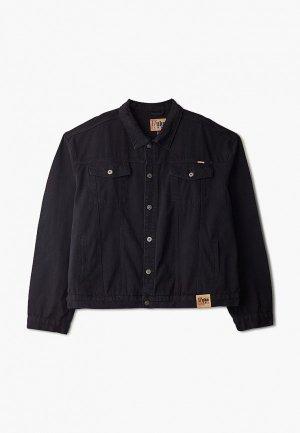 Куртка джинсовая D555. Цвет: черный