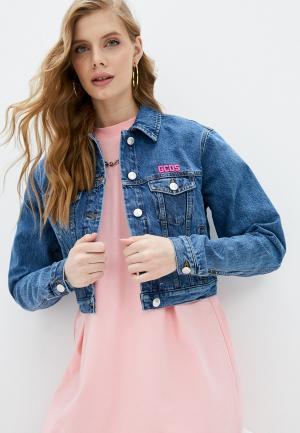 Куртка джинсовая GCDS. Цвет: синий