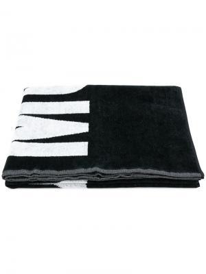 Пляжное полотенце с логотипом Moschino. Цвет: чёрный