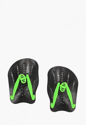 Лопатки для плавания MadWave. Цвет: черный