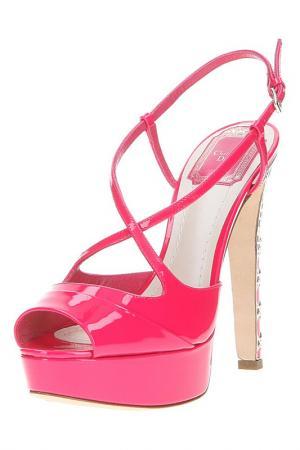 Босоножки Christian Dior. Цвет: бордовый