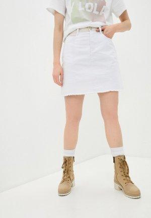 Юбка джинсовая Bimba Y Lola. Цвет: белый