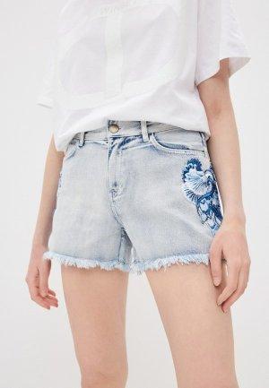 Шорты джинсовые Twinset Milano. Цвет: голубой