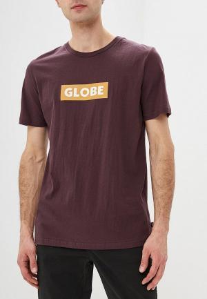 Футболка Globe. Цвет: коричневый