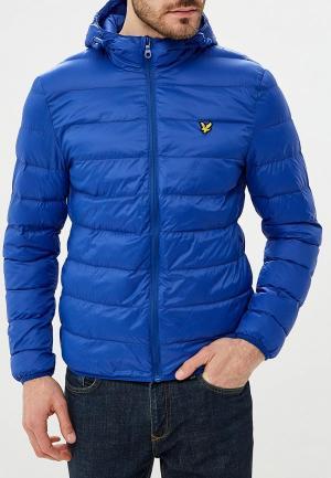 Куртка утепленная Lyle & Scott. Цвет: синий