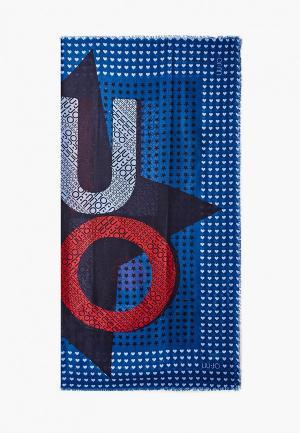 Платок Liu Jo. Цвет: синий