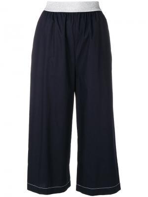 Укороченные широкие брюки  IM Isola Marras I'M. Цвет: синий