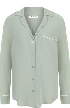 Шелковая блуза свободного кроя Equipment. Цвет: оливковый