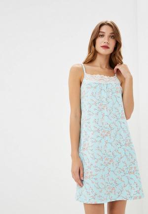Сорочка ночная Sela. Цвет: бирюзовый