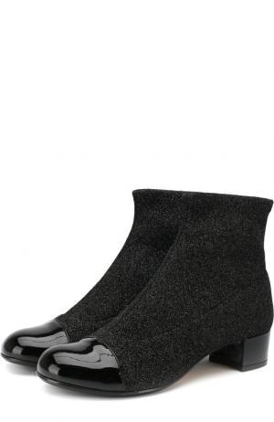 Текстильные ботинки с кожаной отделкой Missouri. Цвет: черный