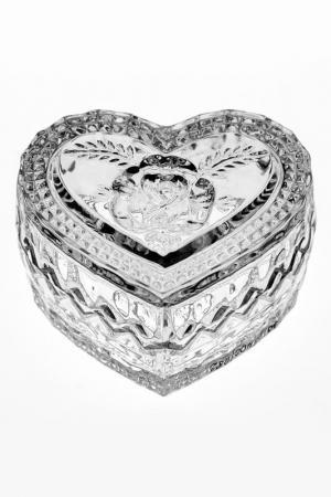 Доза Сердце, 8,2 см CRYSTAL BOHEMIA. Цвет: прозрачный