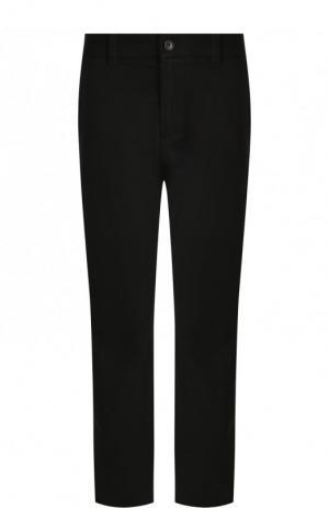 Укороченные хлопковые брюки прямого кроя James Perse. Цвет: синий