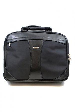 Сумка-портфель для ноутбука Pierre Cardin. Цвет: черный