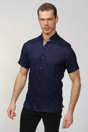 Рубашка AZZARO. Цвет: синий