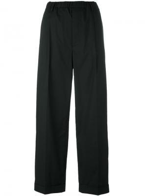 Прямые брюки с заниженной проймой Lucio Vanotti. Цвет: чёрный