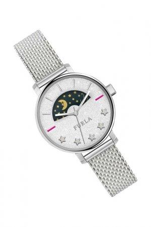 Наручные часы FURLA. Цвет: серебристый