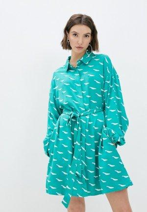 Платье Compania Fantastica. Цвет: бирюзовый