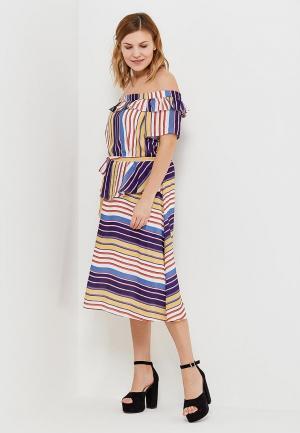 Платье Lost Ink Plus. Цвет: разноцветный