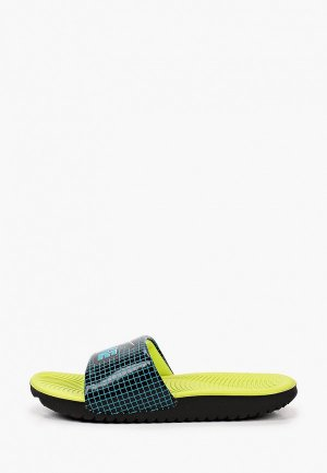 Сланцы Nike. Цвет: бирюзовый