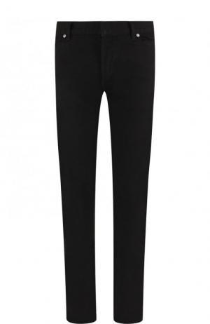 Однотонные джинсы скинни Balmain. Цвет: черный