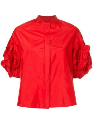 Блузка со структурированными рукавами Dice Kayek. Цвет: красный