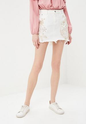 Юбка джинсовая Glamorous. Цвет: белый