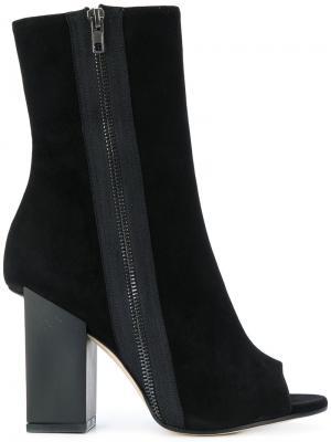Ботинки с открытым носком Marc Ellis. Цвет: чёрный