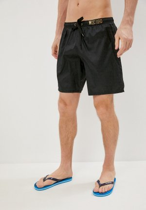 Шорты для плавания Moschino Swim. Цвет: черный