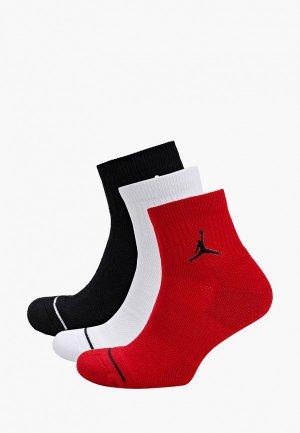 Носки 3 пары Jordan. Цвет: разноцветный