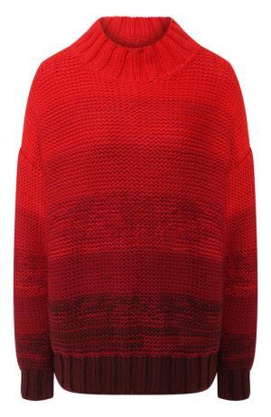 Шерстяной пуловер со спущенным рукавом Elizabeth and James. Цвет: красный