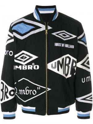 Куртка-бомбер с логотипом House Of Holland. Цвет: чёрный