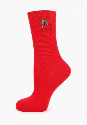 Носки Befree. Цвет: красный