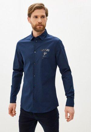 Рубашка Moschino Couture. Цвет: синий