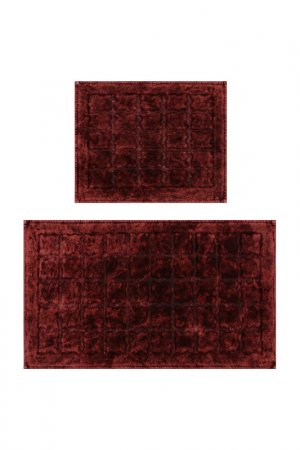 Bathmat set, 2 pieces BEVERLY HILLS POLO CLUB. Цвет: red