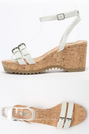 Туфли летние открытые ALBA. Цвет: белый