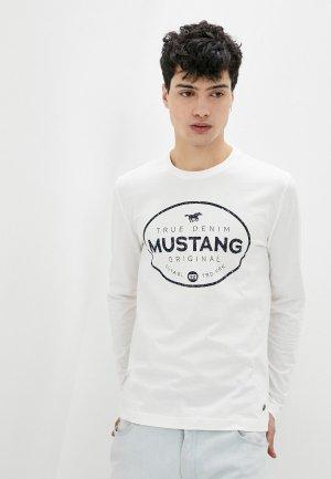 Лонгслив Mustang. Цвет: белый