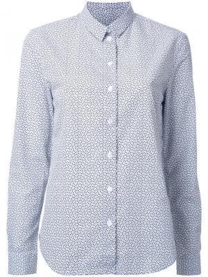 Рубашка с узором Maison Kitsuné. Цвет: белый