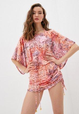 Платье пляжное Luli Fama. Цвет: розовый