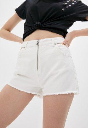 Шорты джинсовые Patrizia Pepe. Цвет: белый