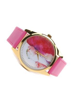 Часы Акварельная девушка MITYA VESELKOV. Цвет: розовый