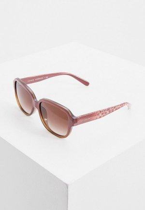 Очки солнцезащитные Coach. Цвет: розовый