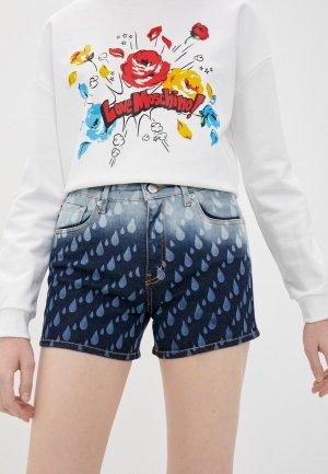Шорты джинсовые Love Moschino. Цвет: синий