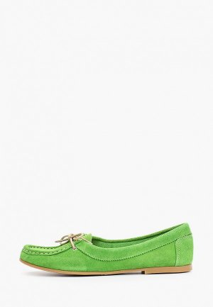 Топсайдеры Dali. Цвет: зеленый