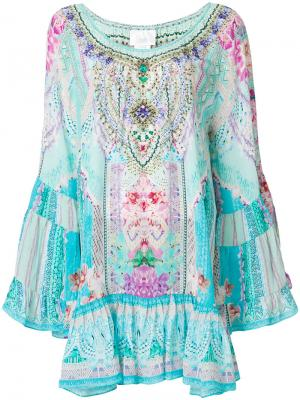 Платье с цветочным принтом Camilla. Цвет: многоцветный