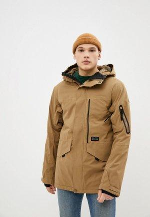 Куртка сноубордическая Billabong. Цвет: коричневый