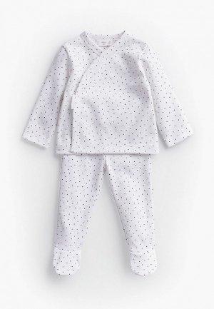 Пижама Mango Kids. Цвет: белый