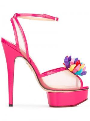 Босоножки Pomeline Charlotte Olympia. Цвет: розовый и фиолетовый