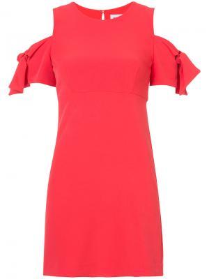 Платье с вырезами на плечах Milly. Цвет: красный