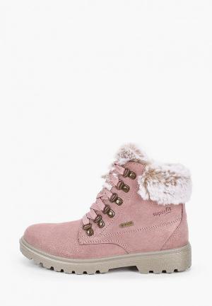 Ботинки Superfit. Цвет: розовый