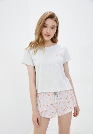 Пижама Cotton On. Цвет: серый
